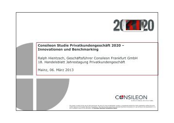 Consileon Studie Privatkundengeschäft 2020 - Consileon Business ...