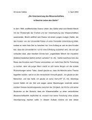 Die Verantwortung des Wissenschaftlers in Brechts Leben des Galilei