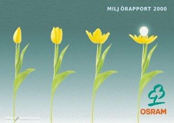 MILJÖRAPPORT 2000 - CorporateRegister.com