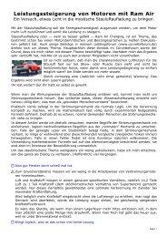Leistungssteigerung von Motoren mit Ram Air - Corvette Forum