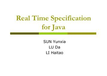 Real Time Specification for Java