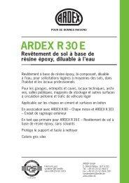 ARDEX R30 E Revêtement de sol à base de résine époxy, diluable ...
