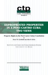 expropriated properties in a post-castro cuba - Covington & Burling