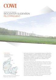 bioCenter gudenåen PilotProjekt - Cowi