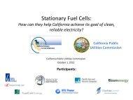 Stationary Fuel Cells: - California Public Utilities Commission