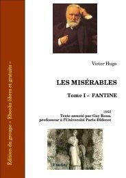 Les Misérables - Tome I - Fantine - CRDP