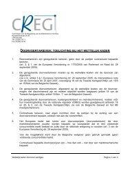 doorvoertarieven: toelichting bij het wettelijk kader - CREG