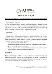 Manual Boas Praticas - Modelo Básico CRN - 3ª Reigão