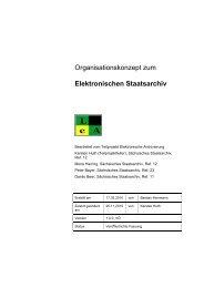 Elektronischen Staatsarchiv - Freistaat Sachsen