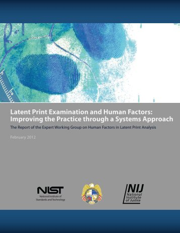 Latent Print Examination and Human Factors - Crime Scene ...