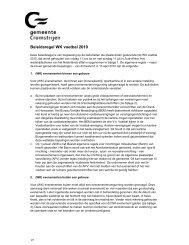 Beleidsregels rondom WK-voetbal - Gemeente Cromstrijen