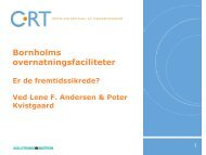 Bornholms overnatningsfaciliteter - CRT - Center for Regional- og ...
