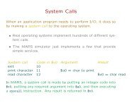 System calls, loops, subroutines