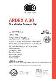 ARDEX A 30 Standfester Feinspachtel