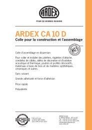 ARDEX CA 10 D Colle pour la construction et l'assemblage