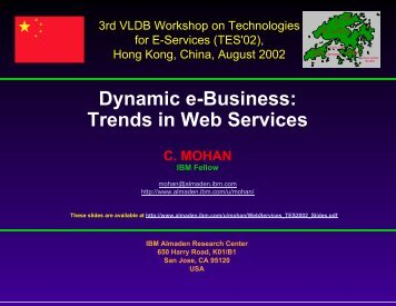 Dynamic e-Business. Trends in Web Services