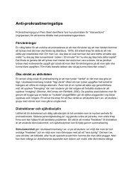 lista med konkreta antiprokrastineringstips