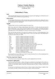 Detaljerad beskrivning av laborationsuppgiften. - Chalmers tekniska ...