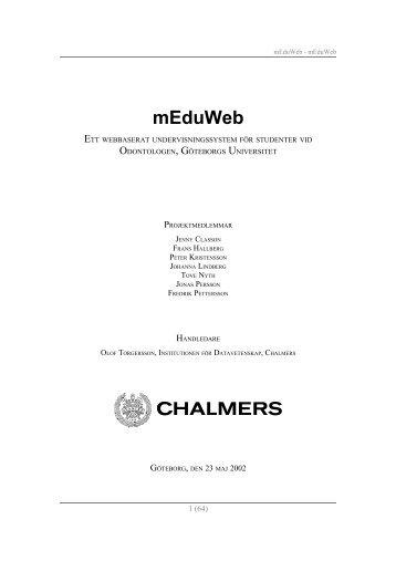 mEduWeb - Chalmers tekniska högskola