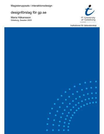 Complete Thesis as PDF - Chalmers tekniska högskola