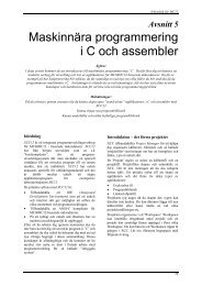 Maskinnära programmering i C och assembler