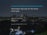 Information Security for the future smart grid