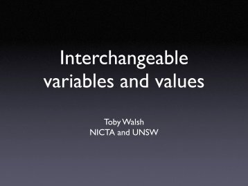 Interchangeable variables and values