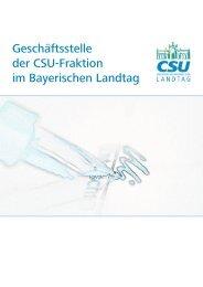 Geschäftsstelle der CSU-Fraktion im Bayerischen Landtag