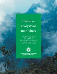 Hawaiian Ecosystems and Culture - College of Tropical Agriculture ...