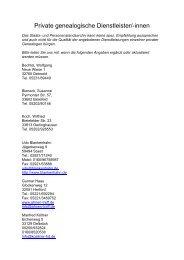 Adressen von professionellen Genealogen und frei schaffenden ...