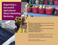Organizing a Successful Agricultural Direct Marketing Workshop
