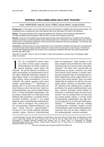 PDF - 308 KB - Cerrahpaşa Tıp Fakültesi