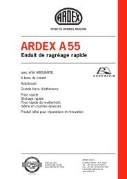 ARDEX A55 Enduit de ragréage rapide