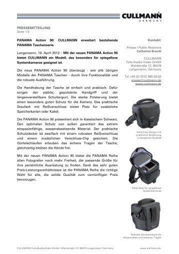 PRESSEMITTEILUNG PANAMA Action 90: CULLMANN erweitert ...