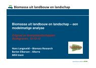 Biomassa uit landbouw en landschap - Rijksdienst voor het ...
