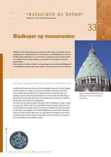 33. Bladkoper op monumenten (2003) - Rijksdienst voor het ...