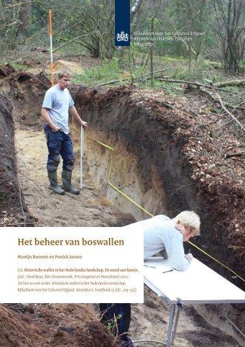 H 13, Het beheer van boswallen. Martijn Boosten en Patrick Jansen