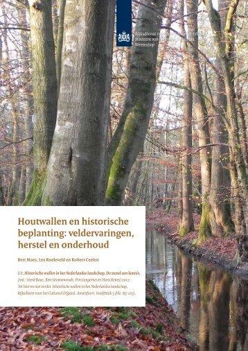 Houtwallen en historische beplanting - Rijksdienst voor het ...