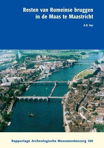 Resten van Romeinse bruggen in de Maas te Maastricht
