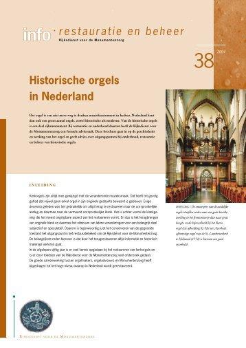 38. Historische orgels in Nederland - Rijksdienst voor het Cultureel ...