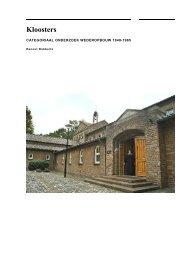 Kloosters - Rijksdienst voor het Cultureel Erfgoed