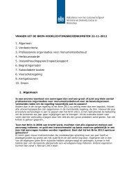 1. Algemeen 2. Verdeelcriteria 3. Professionele organisaties voor ...