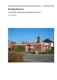 Kruisgebouwen - Rijksdienst voor het Cultureel Erfgoed