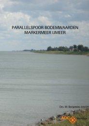 parallelspoor bodemwaarden markermeer ijmeer - Rijksdienst voor ...