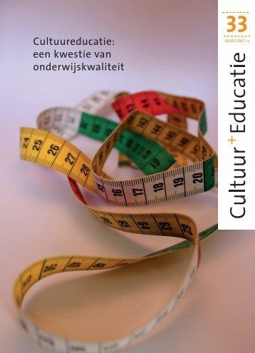 Cultuureducatie: een kwestie van ... - Cultuurnetwerk.nl