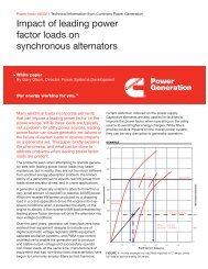 Impact of leading power factor loads on synchronous ... - Cummins Inc.