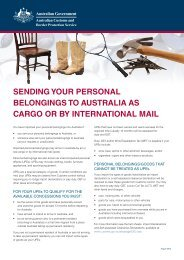 sending your personal belongings to australia as cargo - Australian ...