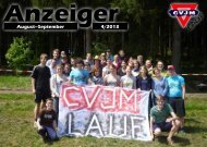 CVJM Anzeiger August September 2013 - CVJM Lauf