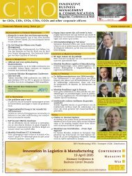 Innovation in Logistics & Manufacturing - CxO