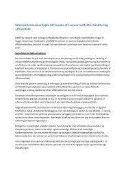 Se diskussionsoplæg vedr. informationssamarbejde til ... - Dakofa